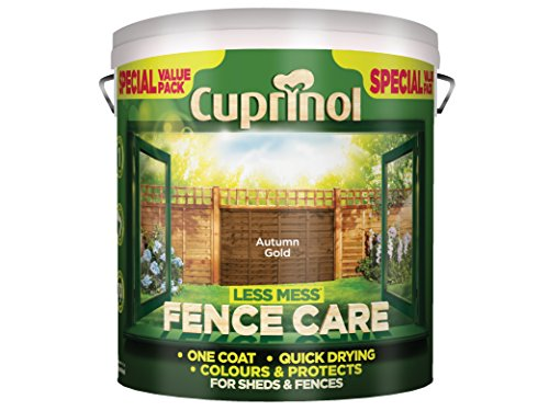 Cuprinol Lmfcag6l 6 Litre Less Mess Fence Care - Autumn Gold