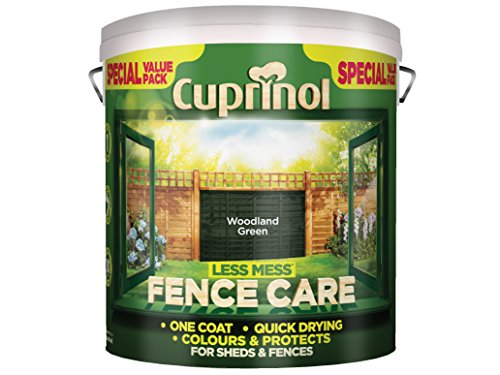 Cuprinol 6 Litre Less Mess Fence Care - Woodland Green