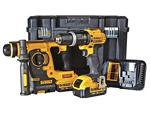 Dewalt 18v Combi Drill Plus Hammer (pack Of 2)