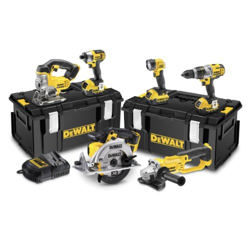 Dewalt 18v Xr Lithium-ion Cordless Package With Batteries (6 Pieces)