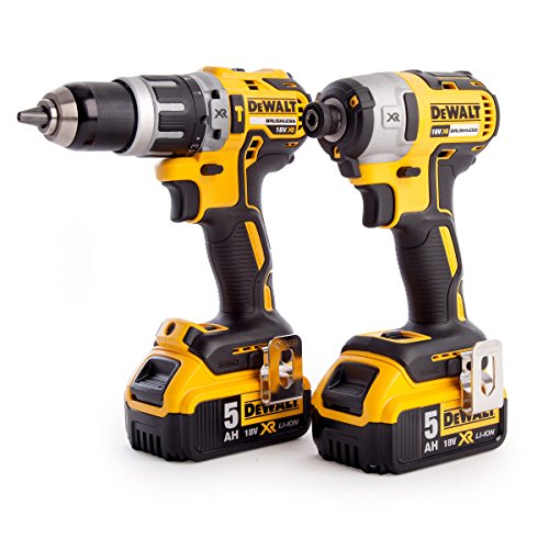 Dewalt Dck266p2t-gb Xr Combi Drill And Impact Driver Brushless Kit In Tstak Box, 18 V, Yellow/black