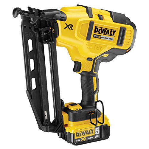Dewalt Cordless XR Brushless Second Fix Nailer 18V 2 x 5.0Ah Li-Ion