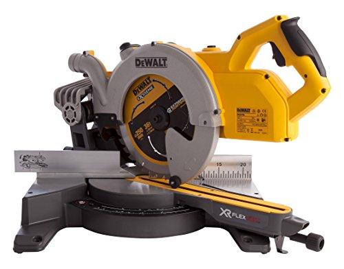 Dewalt Dcs778t2-gb Flex Volt Mitre Saw, 54 V, Yellow/black, 250 Mm, Set Of 7 Piece