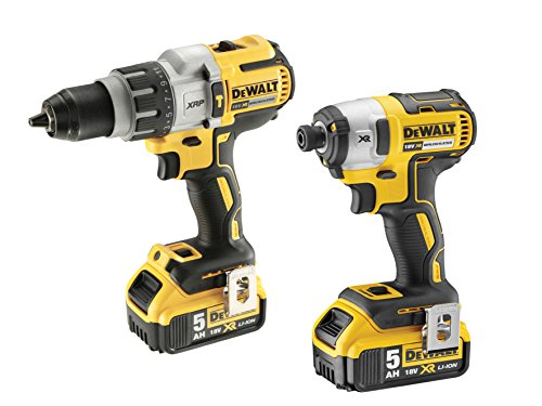 Dewalt Dewdck276p2 Brushless Twin Pack With 2 X 5 A Li-ion Battery, 18 V, Yellow