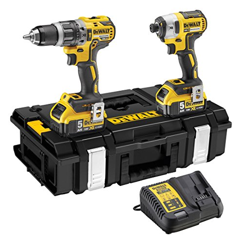 Dewalt Dewpdck266p2 18 V 2 X 5.0 A Li-ion Xr Brushless Hammer Drill - Yellow (pack Of 2)