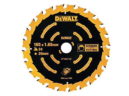 Dewalt Cordless Extreme Framing Circular Saw Blade 165 x 20mm x 24T