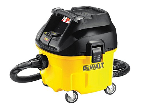 Dewalt Dwv901l-gb Wet And Dry Dust Extractor, 230 V, 1400 W, Yellow/black, 30 Litre, Set Of 4 Piece