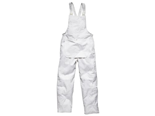 Dickies 650mw Medium Painters Bib And Brace - White