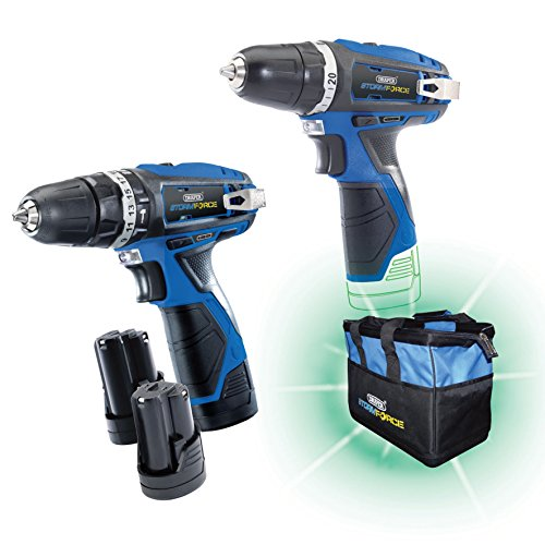 Draper Storm Force® 10.8V Drill TW/Pack +3 Batteries and Bag