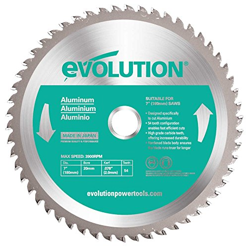 Evolution Aluminium Carbide-tipped Blade, 180 Mm