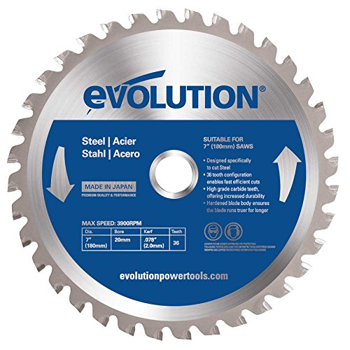 Evolution Mild Steel Carbide-tipped Blade, 180 Mm