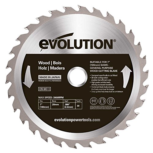 Evolution Wood Carbide-tipped Blade, 180 Mm