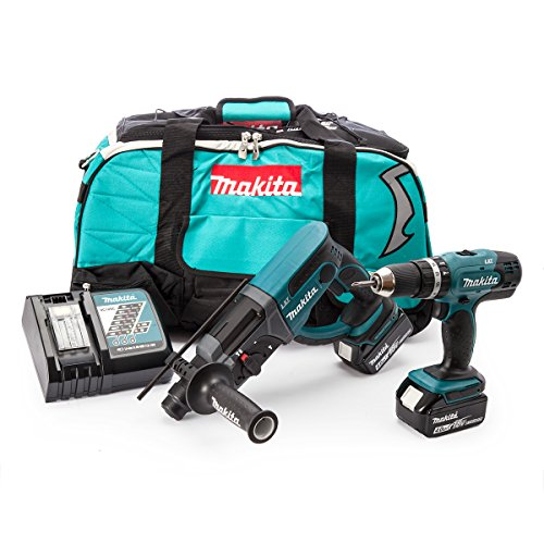 Makita Dlx2025m 18 V Li-ion Lxt Combo Kit Complete With 2 X 4.0 Ah Li-ion Batteries And Charger In A Heavy Duty Carry Bag - (2 Pieces)