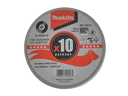 Makita Cutting Discs 115mm (Pack 10)