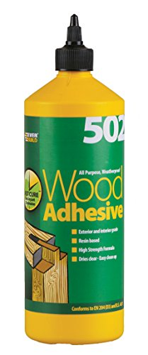 Everbuild 502 All Purpose Weatherproof Wood Adhesive 1 Litre