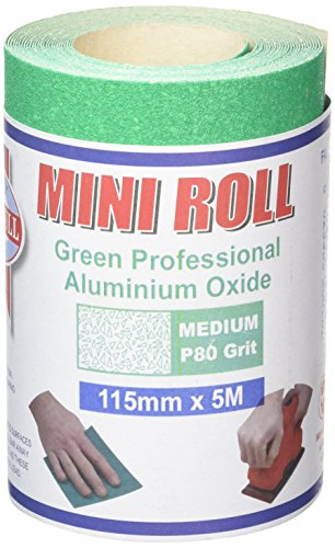 Faithfull Ar580g Aluminium Oxide Paper Roll 115mm X 5m 80g - Green