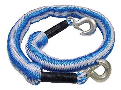 Faithfull Tow Rope Expanding 4m Metal Hooks 3 Tonnes