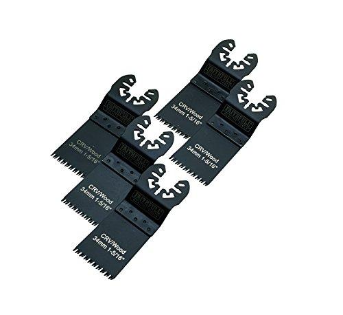Faithfull Multi-Function Tool CrV Flush Cut Wood Blade Ground Side Set 34mm (Pack 5)