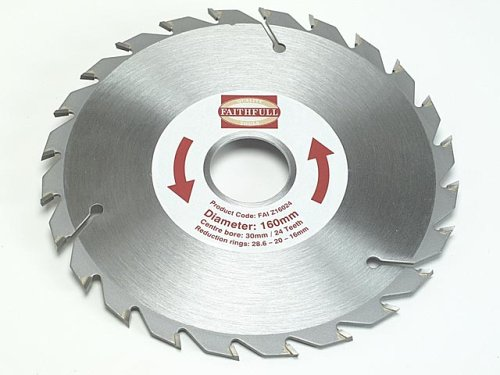 Faithfull Circular Saw Blade 160 x 30mm x 24T Fast Rip