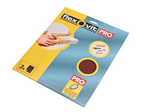 Flexovit Aluminium Oxide Sanding Sheets 230 X 280 Mm Fine 120g (3) Flv26313