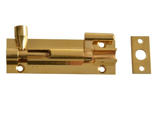 Forge 75mm Door Bolt Necked With Brass Finish