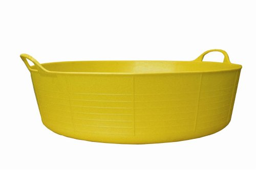 Gorilla 35 Litre Large Shallow 2 Hand Led Tub Hi-vis, Yellow