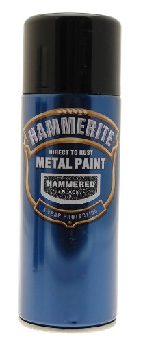 Hammerite Direct to Rust Hammered Finish Aerosol Black 400ml