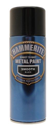 Hammerite Direct To Rust Smooth Finish Aerosol Black 400ml