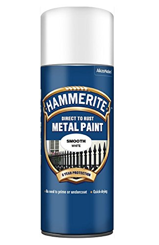 Hammerite Direct To Rust Smooth Aerosol Spray Paint- White 400ml