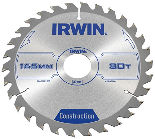 Irwin Construction Circular Saw Blade 165 x 30mm x 30T ATB