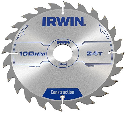 Irwin Construction Circular Saw Blade 190 x 30mm x 24T ATB