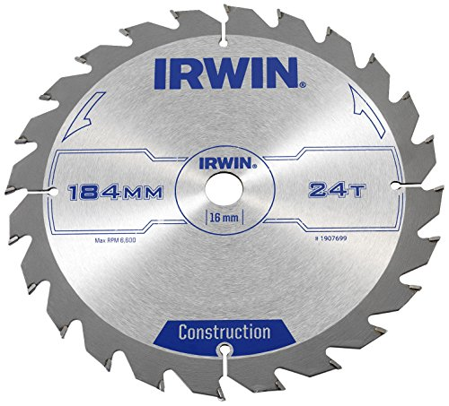 Irwin Construction Circular Saw Blade 184 x 16mm x 24T ATB