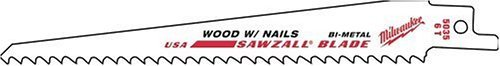 Milwaukee SAWZALL® FANGTIP™ NAIL GUARD™ Sabre Blade 150mm 5 tpi (5)