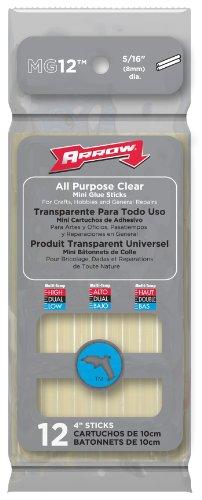 Arrow  Mg12  Mini Glue Sticks 4in (pack 12)