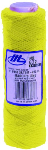 Marshalltown M632 Masons Line 285ft - Fluorescent Yellow