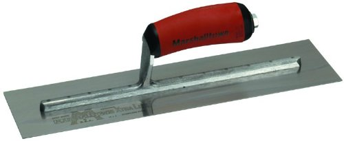 Marshalltown The Premier Line Mxs66ssd 16-inch By 4-inch Stainless Steel Finishing Trowel With Curved Durasoft Handle
