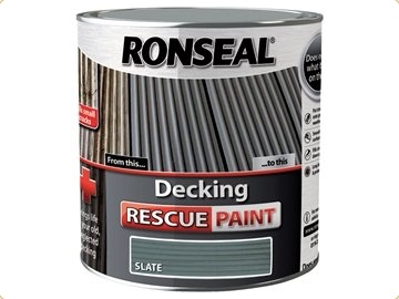 Ronseal RSLDRPS5L 5 Litre Decking Rescue Paint - Slate