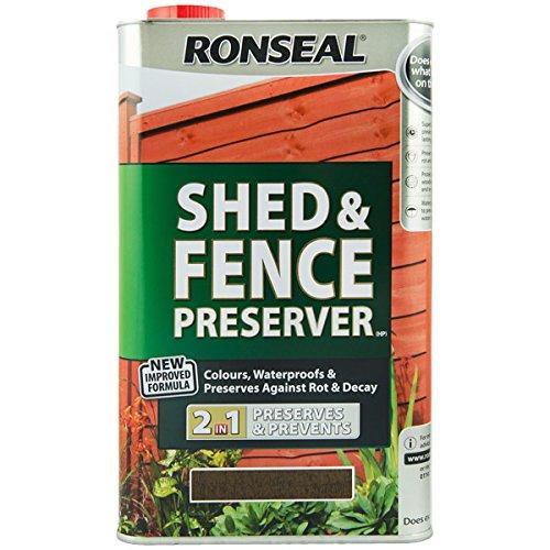 Ronseal Shed & Fence Preserver Black 5 Litre