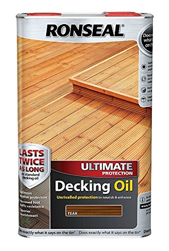 Ronseal Ultimate Protection Decking Oil Teak 5 Litre
