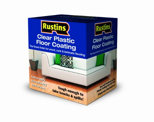 Rustins Clear Plastic Floor Coating Kit Satin 1 Litre