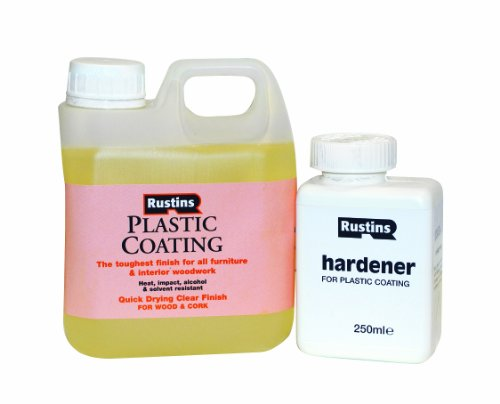 Rustins Pcgl1000 1l Plastic Coating And Hardener Gloss