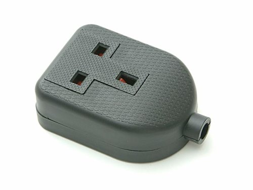 SMJ Black 13amp 1 Gang Rubber Extension Socket