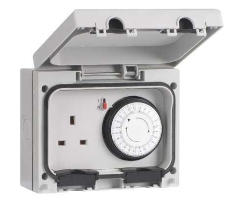 SMJ IP66 13A Socket with 24hr Timer 1 Gang