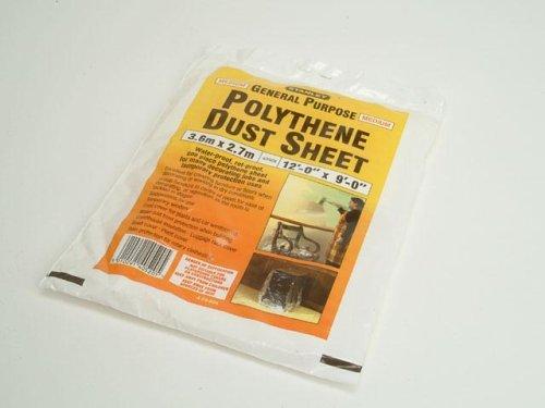 Stanley Polythene Dust Sheet 3.6 X 2.7m