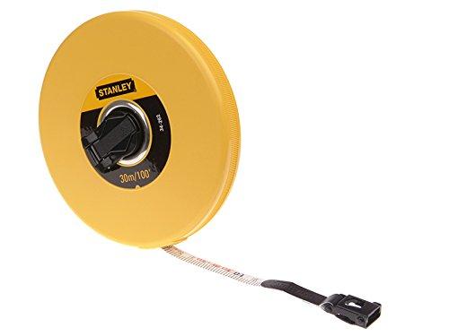 Stanley Closed Case Fibreglass Long Tape 30m/100ft (Width 13mm)