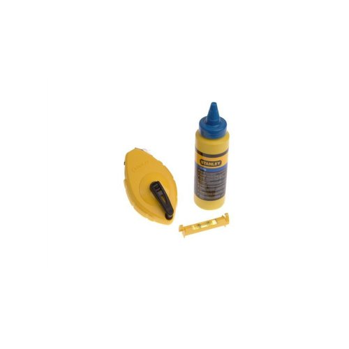 Stanley Chalk Line 30m Blue Chalk & Level