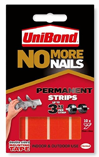Unibond No More Nails Permanent Pads 19mm x 40mm (Pack of 10)