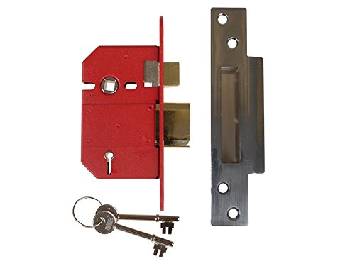 Union Locks 5 Lever Mortice Sashlock Satin Chrome 68mm Box
