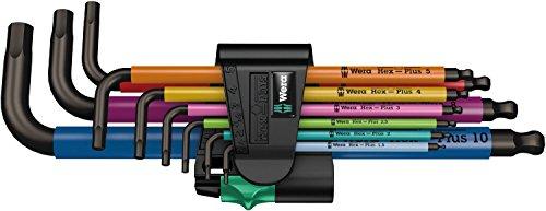 Wera Hex-Plus Ball End Key Multi Sleeve Set of 9 Metric (1.5-10mm)