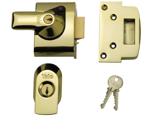 Yale Locks BS2 Nightlatch British Standard Lock 40mm Backset Brasslux Finish
